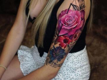 Floral Arm Tattoo