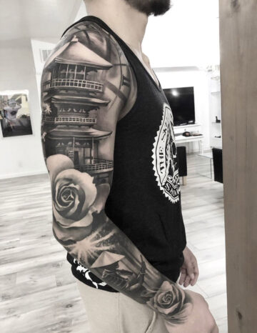 Samurai Temple Sleeve