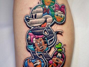 Disney embroidery tattoo