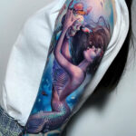 Mermaid Crowning a Skeleton