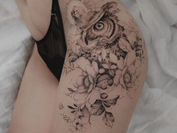 Owl & flowers hip