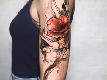Ballerina & Poppy Tattoo