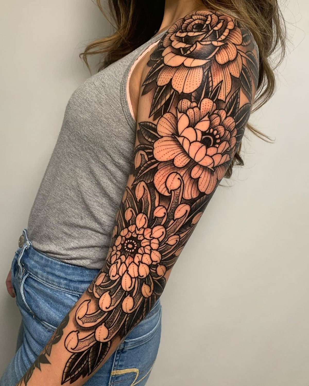 Pretty flowers sleeve