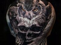 Owl & Skull Back