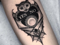 Bat Planchette tattoo