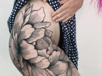 Peony Hip Tattoo