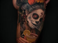 Day of the Dead Side Tattoo