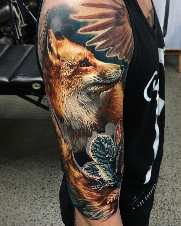 Fox & Frozen Rose