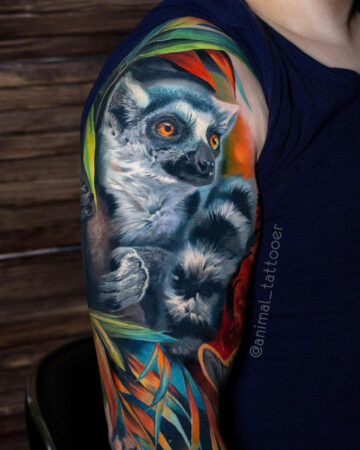 Ring-Tailed Lemur Tattoo