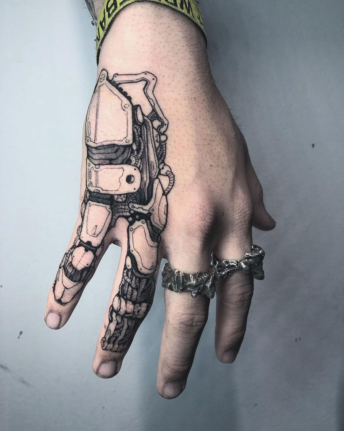 Mechanical Hand Tattoo