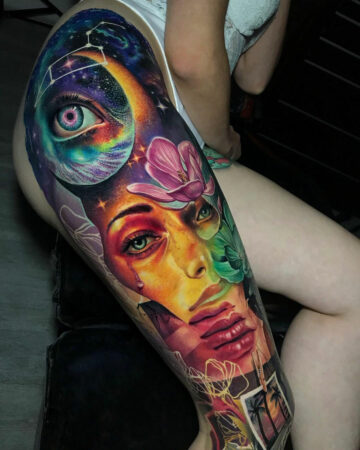 Abstract Leg Sleeve