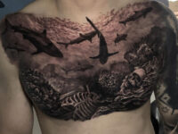 Sharks Chest Tattoo