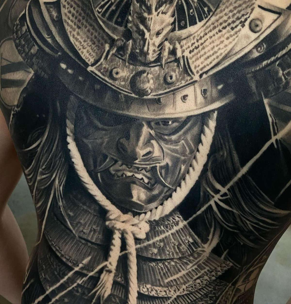 Samurai face detail