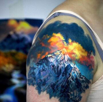 Mountain Peak Tattoo