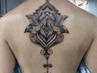 Lotus Mandala Back Tattoo