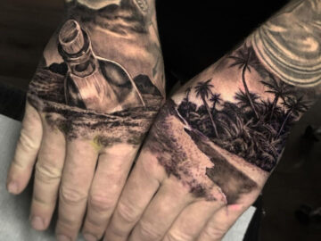 Cast Away hands tattoos