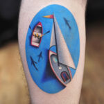 Sailing Boat Tattoo