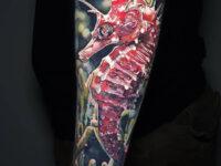 Realistic Seahorse Tattoo