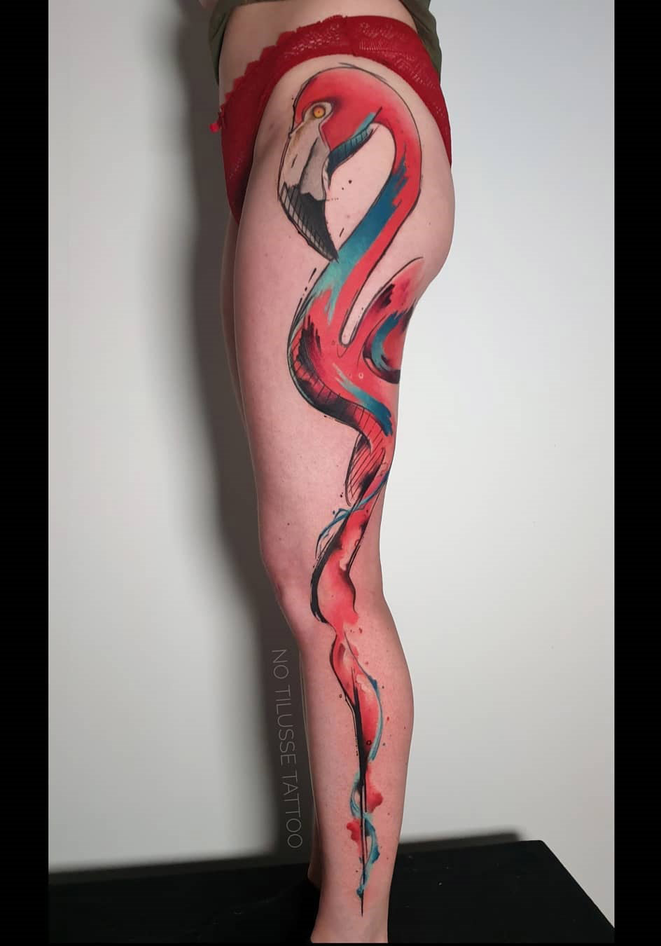 Flamingo Abstract Leg