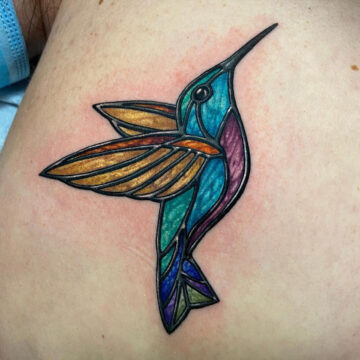 Stained Glass Humming Bird