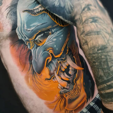 Hannya on Men's Ribs
