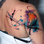 Robin Shoulder Tattoo