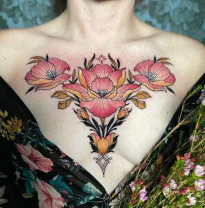 Coffre fleuri