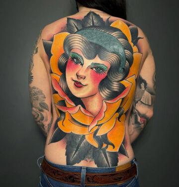 Portrait Back Tattoo