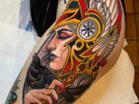 Valkyrie Woman's Hip Tattoo