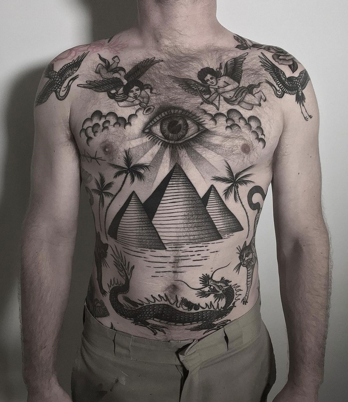 Pyramids & Dragon Tattoo