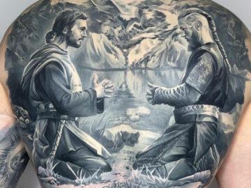 Ragnar and Athelstan praying