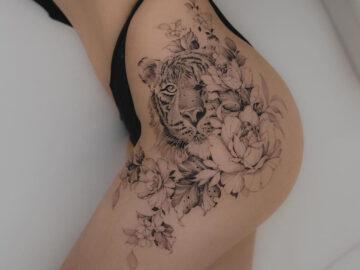 Tiger & Flowers Hip